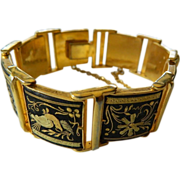 Exceptional-etched Damascene- bracelet