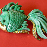 Unsigned Hattie Carnegie -Fish pin