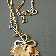 Artists- hand made- Silver & copper- Pendant with chain