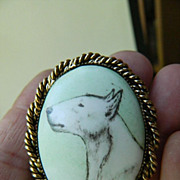 "Porcelain ""Dog"" pin/pendant"