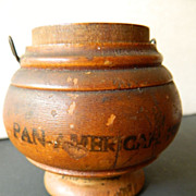Treen-pease ware container- Pan American -Expo- Buffalo New York-1901