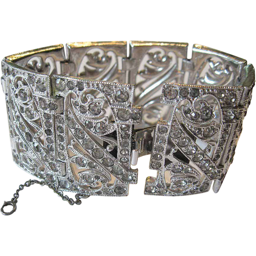 Fabulous -Jeweled panel Bracelet-Deco