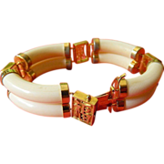 Asian bracelet- Ivory- gold plated