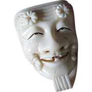 SALE Fabulous carved Ivory- Netsuke- Mask