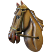 Carved- Folk art- Horse pin