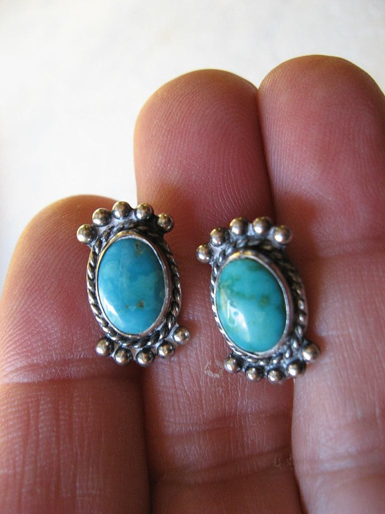 Native American silver with Turquoise -earrings