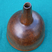 19th Century Maple Wood Funnel With Hexagonal Spout