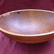 19th Century Large Round Wooden Bowl