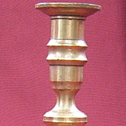 Single Late 19th Century Brass Candlestick