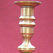 Single 19th Century Brass Candlestick