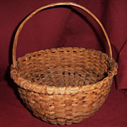 19th Century  Small Splint Basket