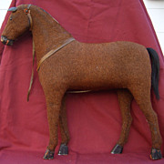 19th Century Child�s Toy Mohair Horse