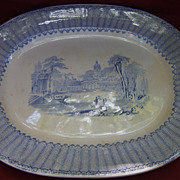 Blue & White Transfer Ware Platter by Thomas Fell & Co.