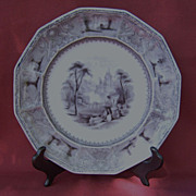 19th Century Black Transfer Lozere Plate Edward Challinor