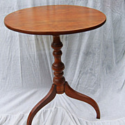 19th Century Fine Oval Top Cherry Spider Leg Candlestand