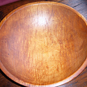 SOLD Tiger Maple Wooden Bowl - Red Tag Sale Item