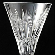 "SOLD Stuart ""Medici"" Pattern Crystal Sherry Glass"
