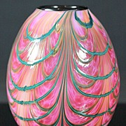 SOLD Jeremiah Lotton Swag Pulled Pattern Vase