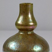 Loetz Double Baluster Oil Spot and Crackle Pattern Vase