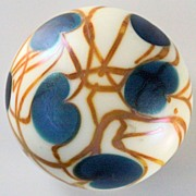 "SOLD Charles Lotton ""Hearts and Vines"" Pattern Paperweight"