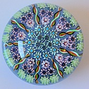 SOLD Perthshire Nine Spoke Torsade Millefiori Paperweight