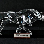 "SOLD Daum Limited Edition ""Brabois"" Crystal Sculpture"