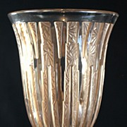 Verlys Sepia Stained Art Deco Vase