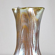 SOLD Loetz Gold Wellenoptisch Vase