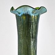 Loetz Rusticana Vase on Creta Silberisis Glass