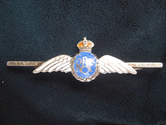 English Silver/Enamel Royal Air Force Sweetheart Pin - RAF