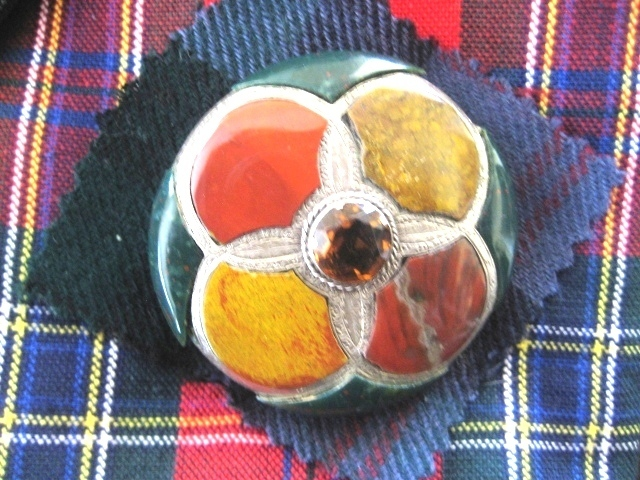 Large Victorian Scottish Brooch/Pendant with Cairngorm Stone