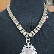 Large Victorian Medal with Fabulous Ornate thick Chain