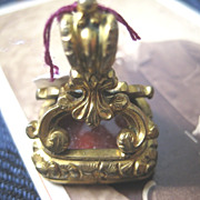Victorian Yellow Gold Filled Carnelian Fob/Seal