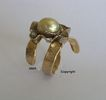 14ct white & yellow gold South Sea golden Pearl ring.