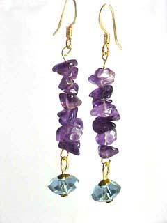 Long Amethyst Dangle Earrings
