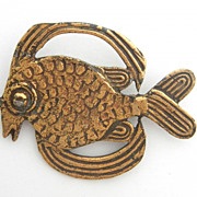 Funky Fish Pin Signed Alva Studios