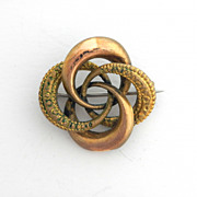 SALE Antique Gold Filled Knot Pin