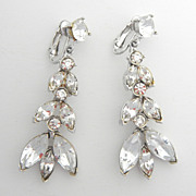 SALE Drippy Long Rhinestone Earrings