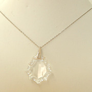 SALE Crystal Pendant Necklace