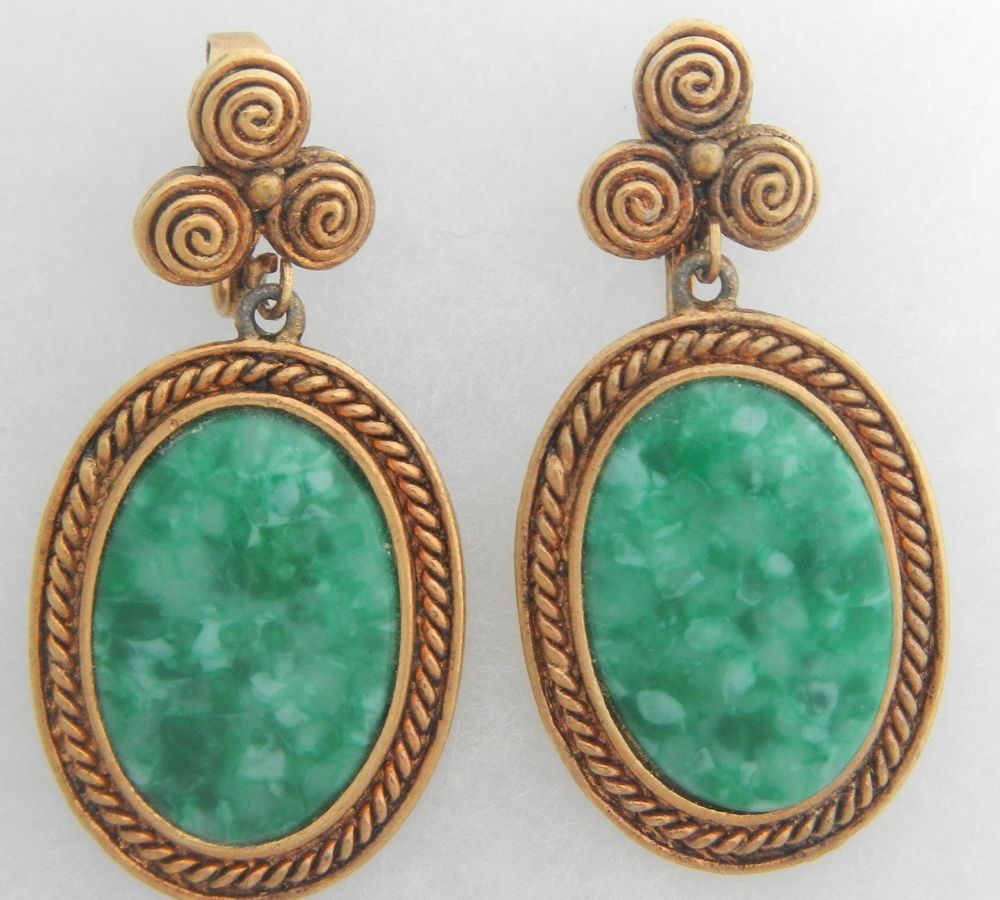 Peking Glass Drop Earrings