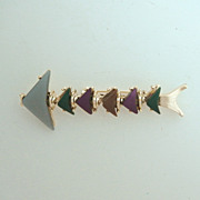 SALE Retro Modern Thermoset Plastic Fish Pin