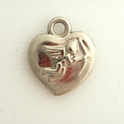SALE Puffy Heart Cherub Charm