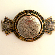 SALE Vintage Double Locket Pin