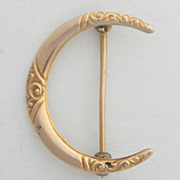 Darling Victorian 14K Crescent Moon Pin