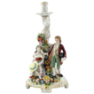 Antique Royal Vienna Porcelain Chamberstick With Courting Couple