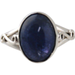 Sterling Silver Ring With Tanzanite Cabochon - 9.84cts