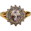 Kunzite & Diamond Ring in 14kt Gold Ring, Size 7 1/2