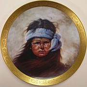 Gregory Perillo - Apache Boy - Collectors Plate