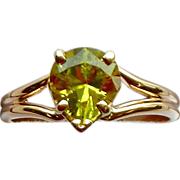 Chrysoberyl 14kt Yellow Gold Ring, Size 8