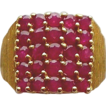Ruby 14kt Yellow Gold Ring, Size 6 1/4